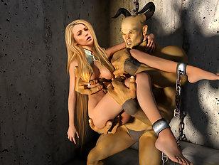 Monster dicks fill up a pretty blonde movie star