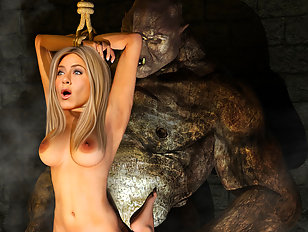 Bizzare monster sex adventure with blonde babe Jennifer Aniston