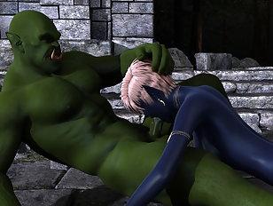Pretty, milky-skinned elf traumatized by a gigantic dick.