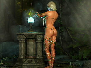 Peachy ass collection with alien and human 3D babes