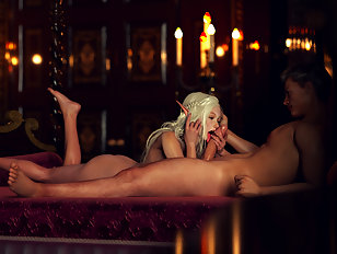 Tasty elven princess offers her body to a human prince
