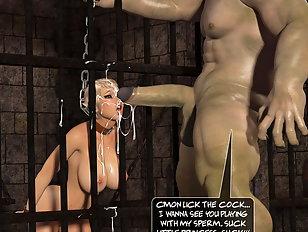 Poor human slave getting broken by a sex machine