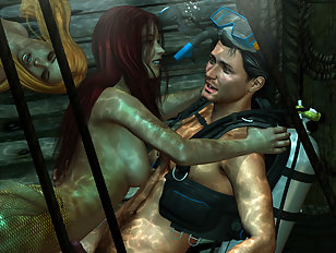 Real 3D alien gets his hands on a super hot chick
