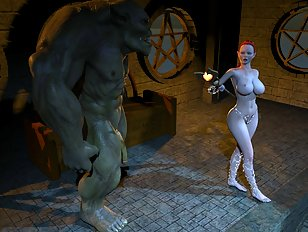 Call girl ends up in the hands of a filthy 3D ogre