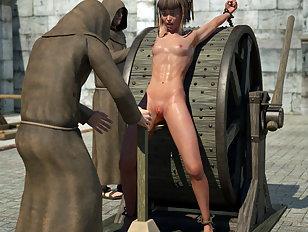 Dark elf girl is sucking off an elder vampire