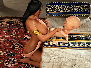Tiny bodied gnome with a huge dick slams a pretty babe