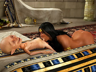 Arabian 3D slut makes a small alien cum hard