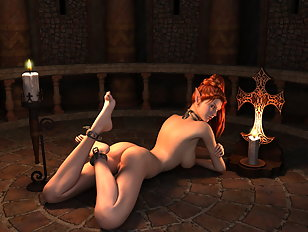 Hot 3D elf redhead with an ass to die for