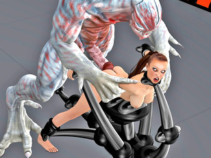 Two slave girls in wicked lesbian 3d tentacle porn