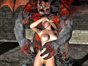 Monster sex 3d with pretty perverted fantasy sluts