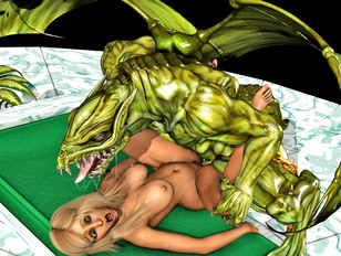 Winged beast brutally pounding a hottie