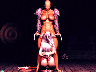 3d alien rape with only busty girls!