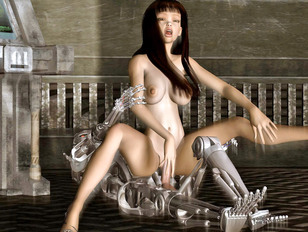 Hot tentacle sex and machine fucking action