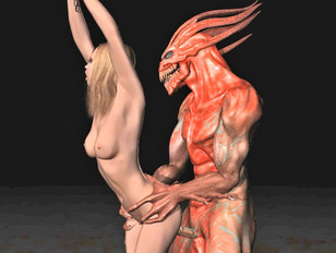 3d monster cum in mouth of hot elf
