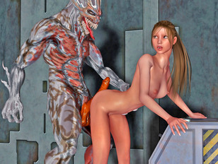 Hot 3d monster hentai compilation of doggy style scenes