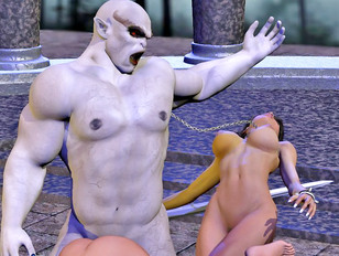 Panging poor babes with powerful 3d anal but of hard