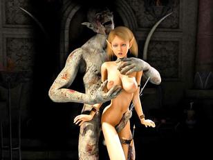 Horny vampire fucks a sexy vampire huntress