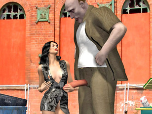 The sex adventures of some horny 3D giants