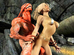 XXX 3d demon porn with hot blonde