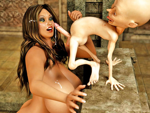 Horny fantasy babes and 3D monsters getting satisfaction