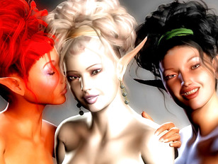 Hot busty elf girls gangbanged by horny ogres