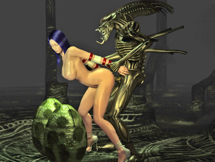 Helpless elf girl in chains left to the mercy of horny minotaur