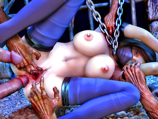Hot 3d tentacle porn with a gorgeous girl getting drilled