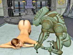 Sexy girl enjoys getting fucked by a robot