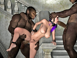 Extreme anal penetration with huge monsters