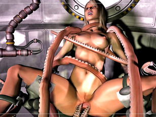 Hot 3d tentacle porn with a sexy blonde