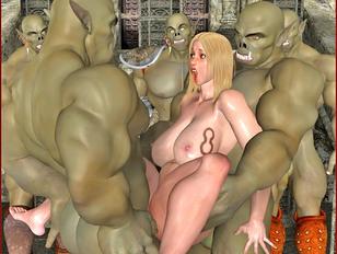 Wonderful 3d monster fantasy girls get fucked