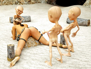 All elf rape babes are stroking their coochies of theirs