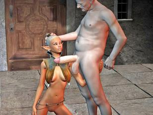 Horny minotaurs gangbanging busty girls