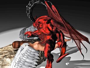 Horny devil brutally fucks a sweet angel