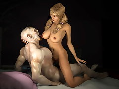picture #4 ::: Watch the undead use their rigid dicks to please hot 3D babes