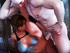 picture #5 ::: Monster blowjob with a pretty 3D girl in heat