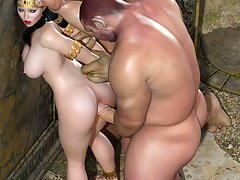picture #8 ::: Monster blowjob with a pretty 3D girl in heat