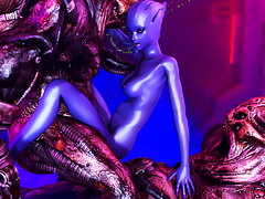 picture #3 ::: Posing 3D devil girl is showing her lush curves