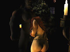 picture #6 ::: Posing 3D devil girl is showing her lush curves