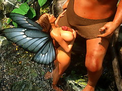 picture #3 ::: Two monster cocks facing a mouth watering elf girl