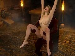 picture #4 ::: Huge 3D cock fills up a pretty slut