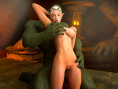 picture #6 ::: Alien fucks a babe's ass as she fingers her pussy