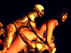 picture #1 ::: Evil 3D dp with a captured human slave girl