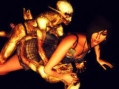 picture #5 ::: Evil 3D dp with a captured human slave girl