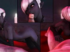 picture #6 ::: Dark elf girl is sucking off an elder vampire