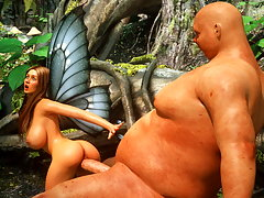 picture #2 ::: Orc with a huge dick slams it into a pretty elf