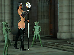 picture #1 ::: Horny 3D sorceress has two of her minions fuck her