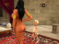 picture #1 ::: Arabian girl with a nice pair of tits fucked by a gnome