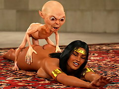 picture #2 ::: Arabian girl with a nice pair of tits fucked by a gnome