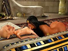picture #3 ::: Arabian 3D slut makes a small alien cum hard